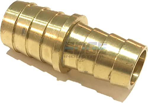 """5//8/"""" 1//2/"""" BARBED PLASTIC REDUCER HOSE JOINER WATER AIR FUEL CONNECTOR."""