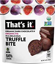 That's it. Organic Dark Chocolate Fig Truffles Fruit Bites 100% Real All-Natural No Artificial Ingredients Healthy Snack Gluten Free Non-GMO Paleo Kosher (Chocolate + Fig, 1 lbs)