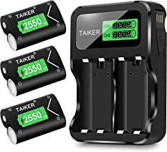 Best Taiker Compatible with Xbox One Battery 3 Pack x 2550mAh Rechargeable Controller Battery and Charger for Xbox One/Xbox One S/Xbox One X/Xbox One Elite Wireless Controller Review