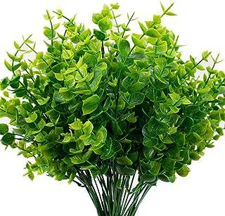 ساقه بلوک مصنوعی Bloom Times (بسته 6) ، ساقه های سبز مصنوعی گیاهان مصنوعی در فضای باز UV مقاوم در برابر گیاهان جعلی مقاوم در برابر UV برای گلخانه خانه مزرعه باغ عروسی پاسیو دکوراسیون داخلی