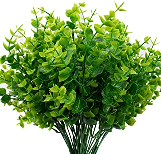 The Bloom Times Artificial Boxwood (Pack of 6), Artificial Greenery Stems Fake Outdoor..