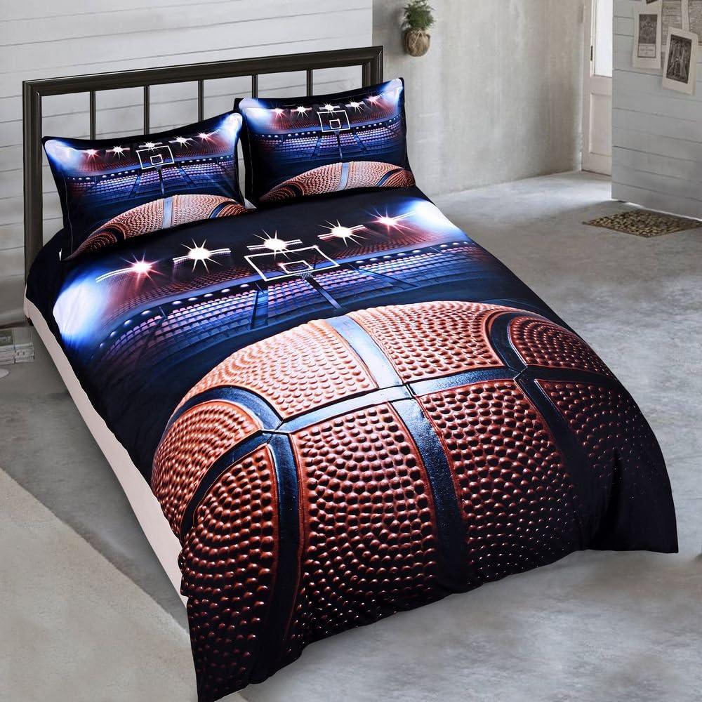 SHOMPE Marble Comforter Set Queen Size,Soft Bedding Quilt Set Modern Blue and Pu