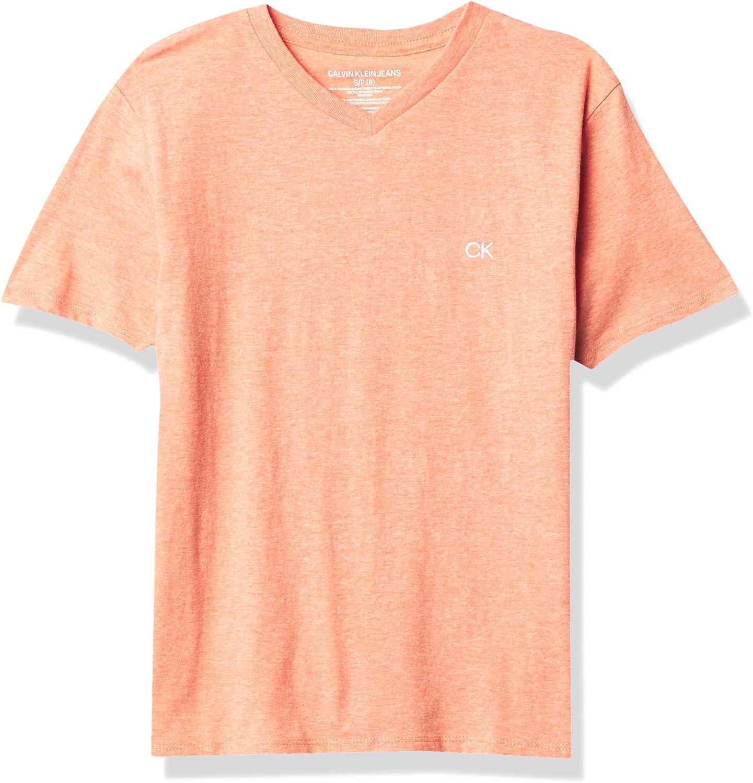 Calvin Klein Boys' Solid Shirt Same Max 68% OFF day shipping V-Neck Tee