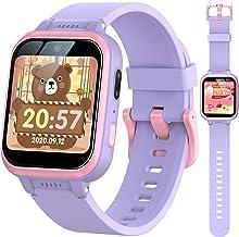 ساعت مچی بچه گانه MOPEVIT ، صفحه لمسی چند منظوره قابل شارژ با دوربین دوگانه HD ، اسباب بازی های آموزشی بازی و پخش کننده موسیقی ، هدایای تولد کریسمس برای دختران پسر 5 تا 5 ساله (بنفش)