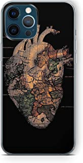Case Box heart map Silicone Printed Case For Iphone 12 Pro Max