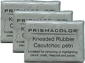 PRISMACOLOR Design Eraser, 1224 Kneaded Rubber Eraser, Grey (70531) (3 Pack)