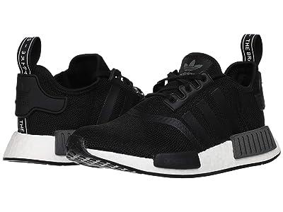 adidas Originals Kids NMD_R1 J (Big Kid) (Black/White) Kids Shoes