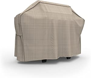 "Budge P8004PM1 English Garden Heavy Duty Waterproof BBQ Grill Cover, 60"" Wide, Tan Tweed"
