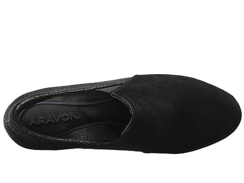 Múltiples De Negro Gore Doble Aravon Lexee Leatherblack Gamuza n8q0Pp