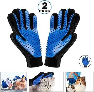 KAIHONG 2 Guantes Masaje para Mascotas Perros Gatos Manopla