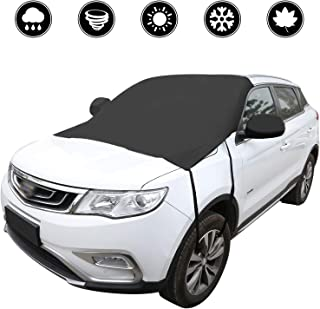 BomStar Windshield Snow Cover None Scratch Ice Removal Wiper Visor Protector All Weather Winter Summer Auto Sun Shade for Cars Trucks Vans and SUVs with 81