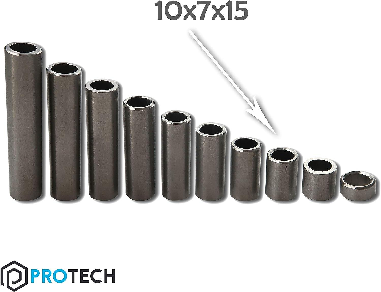 PROTECH 10 St/ück Distanzh/ülsen aus Edelstahl 8x6x5 Abstandhalter Stahl A2 V2A Distanzbuchse Distanzring Buchse