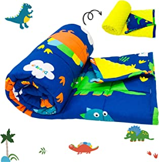 TerriTrophy Kids Weighted Blanket 7lbs,41 x 60inches, Minky & Cotton Dinosaur Weighted Blanket for Kids, Toddlers, Boys, Girls, Children,Best Gifts for Christmas Birthday