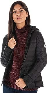 Women's Lightweight Down Hooded Jacket 14 Black