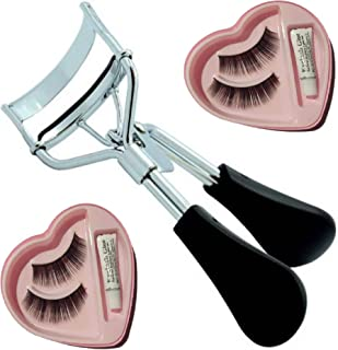 Elecsera Combo of Eyelash Curler and False Eyelashes (Pack of 2) (Set of 3)