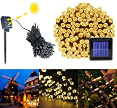 Asvivlld 200-LED Warm White Light Outdoor Waterproof Christmas Decoration Solar Power String Light Garden Home Party Wedding Festival Decorations Crafting Battery Operated Lights (Warm White)