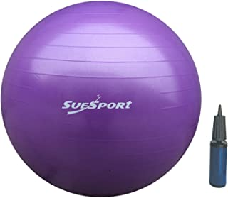 SUESPORT 1000lbs Static Strength Anti-Burst Exercise Ball Kit With Pump, Body Balance Ball, Yoga Ball, Exercise Stability Ball, 3-Size Available