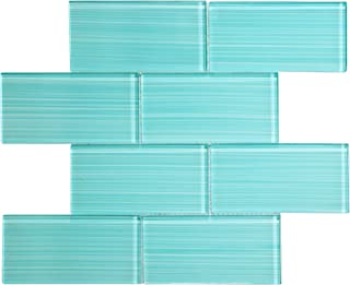 Glass Subway Backsplash Tile Bambu Hand Painted Series for Kitchen and Bathroom by WS Tiles - WST-14CH (3