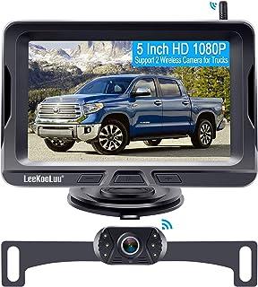 Wireless Backup Camera for Trucks with 5 Inch Monitor,HD 1080P Wireless Rear View Camera System for Car,Truck,SUV,Sedan,Su...