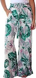 Pantalon Femme Boho Pantalon Dames Floral Imprimer