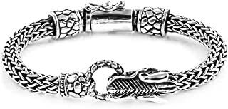 Dragon Head Tulang Naga Bracelet 925 Sterling Silver Jewelry for Women Size 7.25