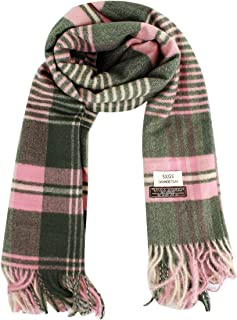 Thick Plaid Cashmere Wool Winter Scarf Shawl for Women Men
