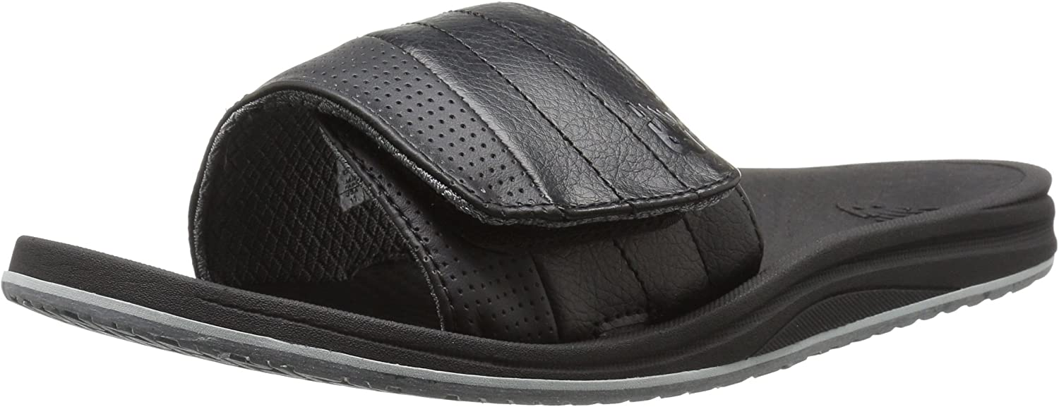 New Balance Men's Recharge Slide Sandal, schwarz grau, 8 D US