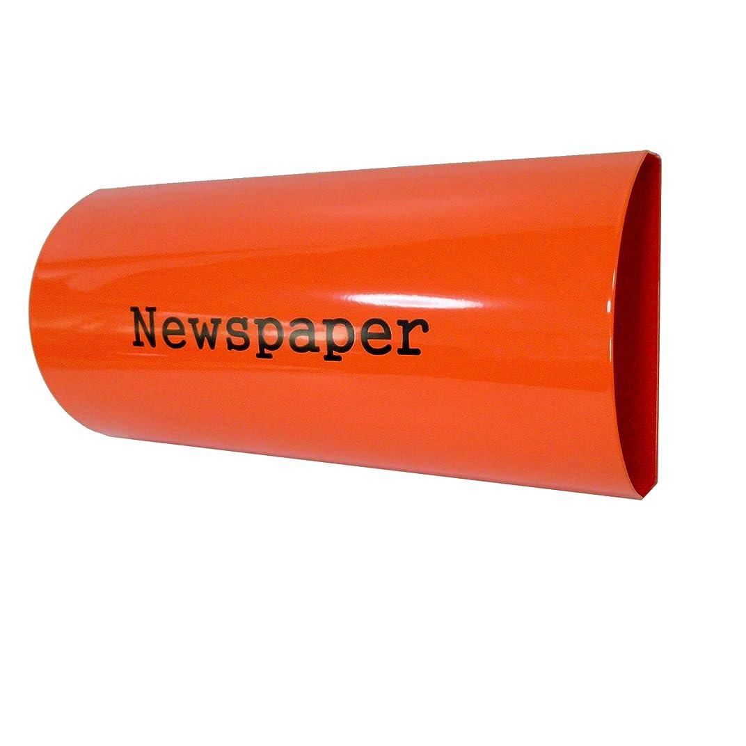 懐マーティフィールディング死にかけているおしゃれな郵便ポスト郵便受けmailboxプレミアムステンレス オレンジ色新聞紙ホルダーpm063-2