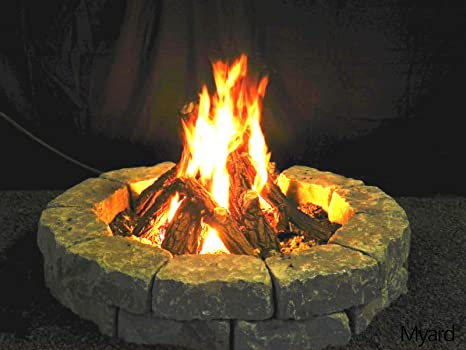 Amazon Com Maxred Myard Logs Only For 30 Diameter Fire Pit Fireplace 75000 Btu For Lp Ng Home Kitchen