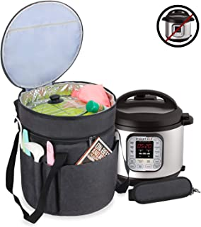 Luxja Carrying Bag Compatible with Instant Pot (6 Quart), Travel Tote Bag for 6 Quart Pressure Cooker and Extra Accessories, Black (Bag Only)