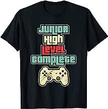 Level Complete Jr High School Graduation Grad Slogan T Shirt