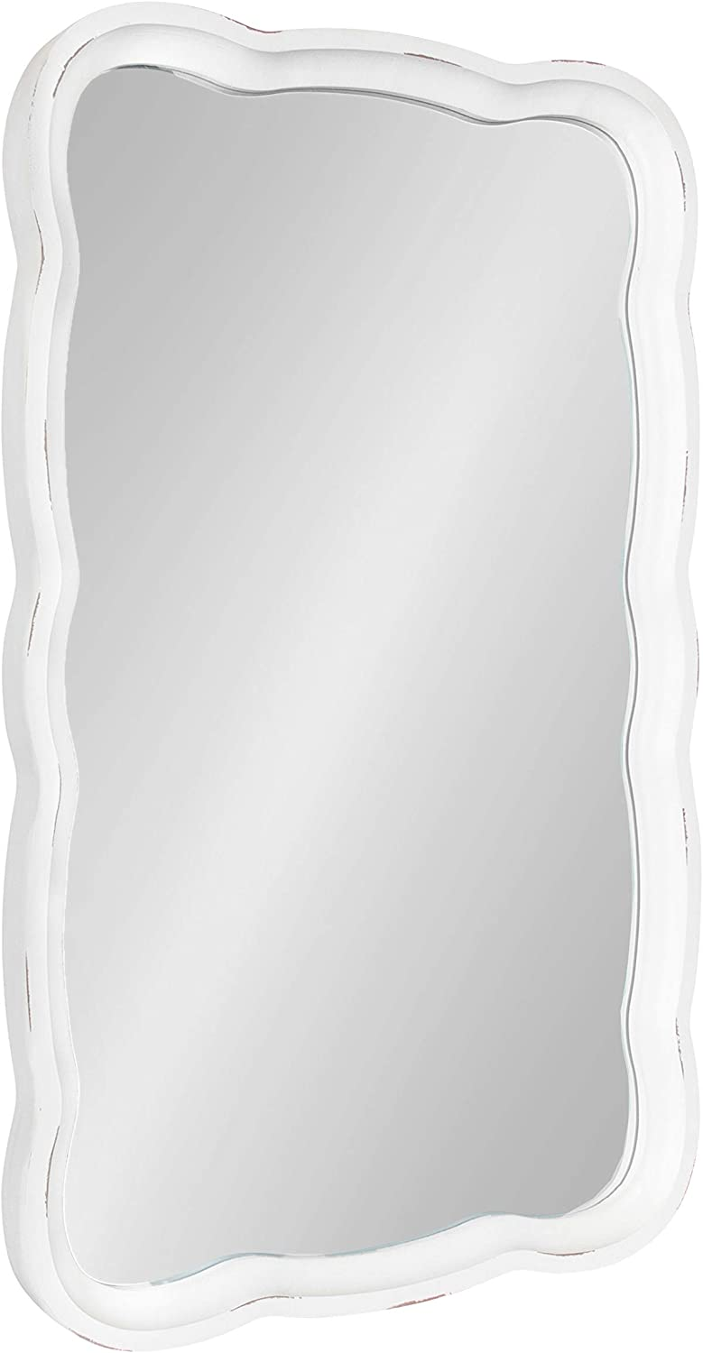 Kate Max 84% OFF and Laurel Hatherleigh Rustic Oklahoma City Mall Scalloped 23 3 Mirror Wall x