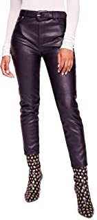 Womens Faux Leather Skinny Pants
