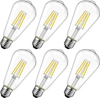 LVWIT Glühlampe LED Classic Edison Lampe E27, 4W ersetzt 40 Watt, 470lm, 2700K..