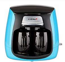 Korona 12207 Compact Koffiezetapparaat | Blauw-Zwart | incl. 2 Keramische Koppen | Permanent Filter | 2 Kops Koffiezetappa...