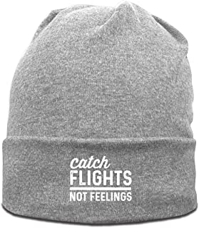 Catch Flights Not Feelings Men's Ski Hat Cute Beanie Cap Winter