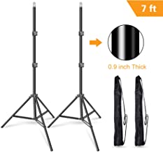 Emart 7 Feet Photography Photo Studio Tripod Light Stands for Softbox, Umbrella, Video Shooting, Reflector, Portable Carry Case Include - 2 Pack