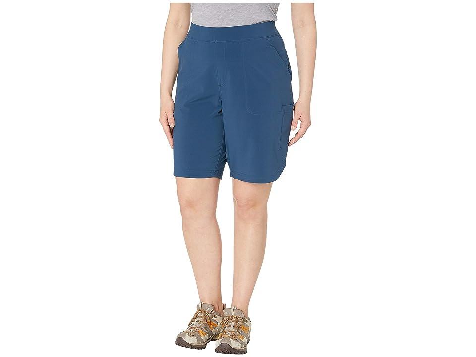 Columbia Plus Size Place To Placetm Long Shorts (Petrol Blue) Women