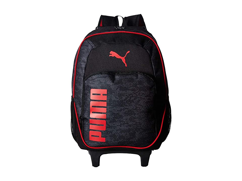 PUMA Evercat Axis Wheelie Backpack (Little Kids/Big Kids) (Black/Red) Backpack Bags
