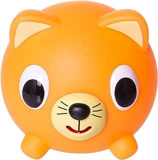 Jabber Ball Japan Oshaberi Doubutsu Talking Animal by Sankyo Toys - Borukuma Stress Relievers Squishy Ball - Neon Orange Cat