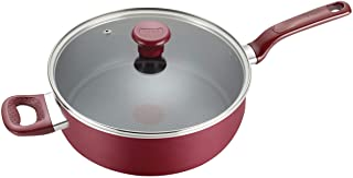 T-fal Excite 不粘锅 Thermo-Spot 洗碗机 *烤箱 炊具 里约红 5 夸脱 B0398264