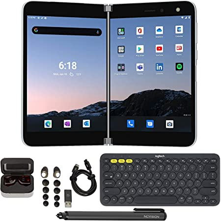 Microsoft Surface Duo for Business Unlocked 256GB Tablet Bundle (4 Items)