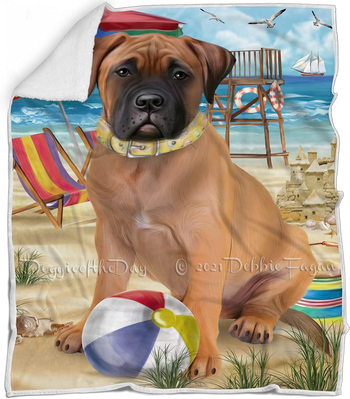 2021 Pet Friendly Beach Quality inspection Bullmastiff Dog Multicolor Fluf - Blanket