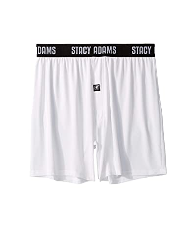Stacy Adams Boxer Shorts (White) Men