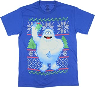 Christmas Rudolph Red-Nosed Reindeer Abominable Snowman Graphic T-Shirt - Large
