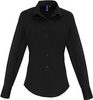 PREMIER PR338 Women's Stretch Fit Poplin Long Sleeve Shirt