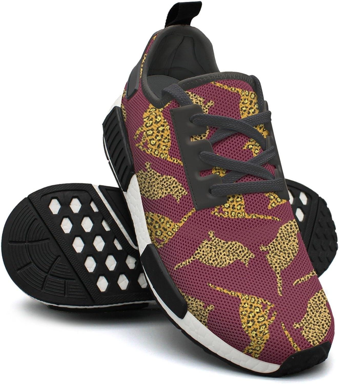 Purple Cat Leopard Print Sport Womens Running shoes NMD