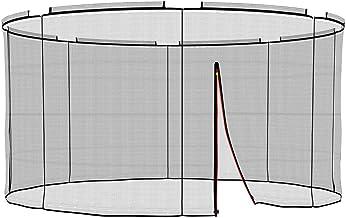 Ampel 24 Veiligheidsnet voor deluxe trampoline Ø 366 cm 8 palen, extern vervangend net, scheurvast
