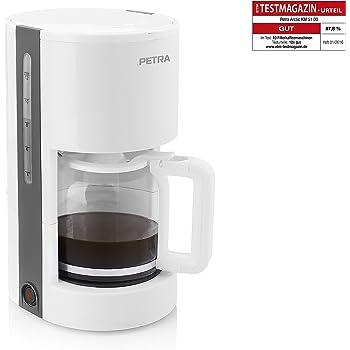 Petra Electric 58.240020.01.001 - Cafetera de 1.2 l, con capacidad para 10, 12 tazas, 900 W, color blanco: Amazon.es: Hogar