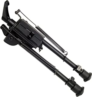 FeelRight 9-13 inch Heavy Duty Notched Legs Solid Base Bipod Pivoting with Pod-Lock for Swivel Style Hunting Shooting Bipod